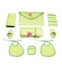Belle Maison Green 9-piece Baby Bath Robe Set - Medium
