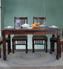 Bergamo Four Seater Dining Table in Honey Oak Finish by Amberville