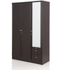 Berlin Three Door Wardrobe in Chocolate Colour by Royal Oak