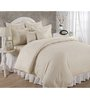 BIANCA Hilton White Cotton Double Bed Sheet (with Pillow Covers) - Set of 3