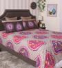 Bianca Multicolour 100% Cotton Queen Size Bedsheet - Set of 3