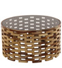 Blocs Coffee Table in Brown Colour by @home