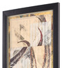 Bloomfields Premium Digital Paper 13 x 37 Inch Abstract Lef by Howard Hersh Framed Digital Art Print