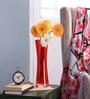 Bloomfields Red Glass LSA Zaika Case Vase