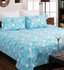 Bombay Dyeing Green Cotton Queen Size Bedsheet - Set of 3