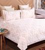 Bombay Dyeing Pink Cotton King Size Bedsheet - Set of 3
