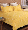 Bombay Dyeing Yellow Cotton King Size Bedsheet - Set of 3