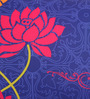 Bombay Mill Multicolour Matt Satin 12 x 24 Inch Mughal Style Print & Embroidery Cushion Cover