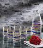 Borgonovo Glass Water Glasses & Bottle - Set Of 7