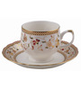 Bp Bharat Csk Jewel Fine Bone China 150 ML Cup & Saucer - Set of 6