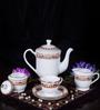 Bp Bharat Ngr Carnival Fine Bone China Tea Set - Set of 15
