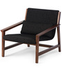 Bridgeport Arm Chair in Charcoal Black Colour by HomeHQ