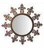 Butterfly Homes Brown Wood Amazing Decorative Mirror