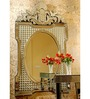 Cadwallon Decorative Mirror in Silver by Amberville