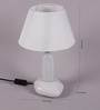Sammie Table Lamp in White by Bohemiana