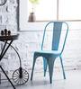 Ekati Metal Chair in Sky Blue Color by Bohemiana