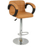 Caremal Rotatable Bar Chair in Tan Color by The Furniture Store