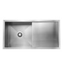 Carysil Quadro Stainless Steel Single Bowl Kitchen Sink with Drainer - 40x20x9
