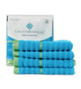 Casa Copenhagen Teal Cotton Face Towel - Set of 4