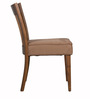 Cecilio Dining Chair (Set of 2) in Brown Colour with Cocoa Legs by CasaCraft