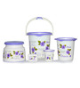 Cello Blossom Plastic Purple Bucket Set - Set of 5