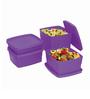 Cello Max Fresh Purple Square Containers - Set of 4