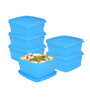 Cello Max Fresh Sky Blue Square 550 ML Containers - Set of 6