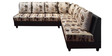 Chicago L Shape Corner Sofa in Black Colour by Elegant Furniture