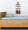 Chipakk Brown Polyvinyl Films Pigmented Keep Calm & Read Wall Decal