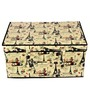 Cipla Plast Foldable Nonwoven Fabric 73.2 L Ivory Laundry cum Storage Box Basket