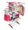 Cipla Plast King Jumbo PPCP & Coated Mild Steel White & Orange Folding Cloth Dryer Stand