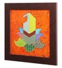 Clasicraft Multicolour Canvas 15 x 0.8 x 15 Inch Paisley Framed Wall Art Painting