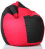 Classic Bean Bag with Beans in Black and Pink Colour by Sattva