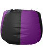 Classic Bean Bag with Beans in Black and Purple Colour by Sattva