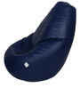 Classic Bean Bag with Beans in Navy Blue Colour by Sattva