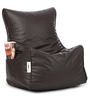 Classic Bean Chair XXL Filled with Beans in Brown Colour by Can