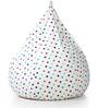 Classic Cotton Canvas Star Design Bean Bag XXL Size with Beans by Style Homez