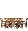 Classic Eight Seater Wooden Dining Set with Cross Back Chairs by Afydecor
