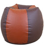 Classic Style Bean Bag Cover in Brown N Tan Colour by Orka