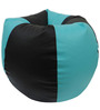 Classic Style Filled Bean Bag in Teel Black Colour by Orka