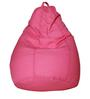 Classic Bean Bag with Beans in Pink Colour with White Polka Dots by Sattva
