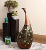 Cocovey Multicolour Metal Bend Neck Flower Vase