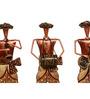Vanya Set Of 3 Dhoti Musician Figurine in Multicolour by Mudramark