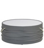 Contessa Centre Table with Glass Top in Grey Colour by @home