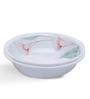 Corelle Asia LillyVille White and Green Vitrelle Glass 1L Serving Bowl Set