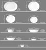 Corelle Livingware Circle Vitrelle Glass Dinner Set - Set of 16