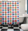 Cortina Multicolour Polyester Shower Curtain