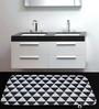 Cortina Geometric Multicolour 100% Cotton Bath Mat