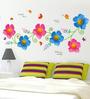 Cortina Pink & Blue PVC Vinyl Nature Theme Wall Sticker