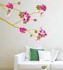 Cortina Vinyl Pink Flower Theme Wall Sticker